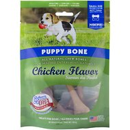 N-Bone Puppy Bone Chicken Flavor Dog Treats, Small