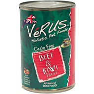 VeRUS Beef & Kiwi Fruit Grain-Free Canned Dog Food, 13.7-oz, case of 12