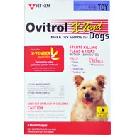 Ovitrol X-Tend Flea & Tick Spot On for Dogs, 3 treatments, 6-12 lbs