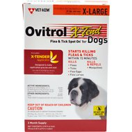 Ovitrol X-Tend Flea & Tick Spot On for Dogs, 3 treatments, 81 lbs and over