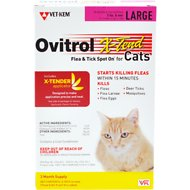 Ovitrol X-Tend Flea & Tick Spot On for Large Cats (Over 5-lbs), 3 treatments