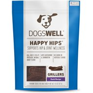 Dogswell Happy Hips Grillers Duck Recipe Dog Treats, 4.5-oz bag