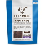 Dogswell Happy Hips Grillers Duck Recipe Dog Treats, 13.5-oz bag