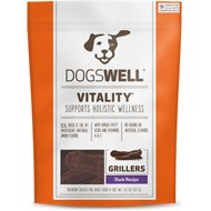 Dogswell Vitality Grillers Duck Recipe Dog Treats, 4.5-oz bag