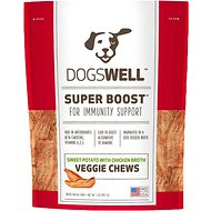 Dogswell Super Boost Veggie Chews Sweet Potato with Chicken Broth Dog Treats, 5-oz bag