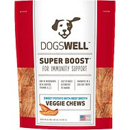 Dogswell Super Boost Veggie Chews Sweet Potato with Beef Broth Dog Treats, 15-oz bag