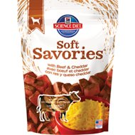 Hill's Science Diet Soft Savories with Beef & Cheddar Dog Treats, 8-oz bag