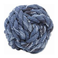Mammoth Denim Rope Monkey Fist Ball Dog Toy, Small