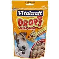 Vitakraft Drops with Peanut Dog Treats, 8.8-oz bag