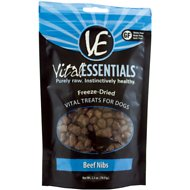 Vital Essentials Beef Nibs Freeze-Dried Dog Treats, 2.5-oz bag