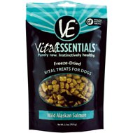 Vital Essentials Wild Alaskan Salmon Freeze-Dried Dog Treats, 2.5-oz bag