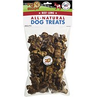 Pet 'n Shape USA All-Natural Chewz Beef Lungs Dog Treats, 3-oz bag