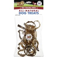 Pet 'n Shape USA All-Natural Chewz Beef Trachea Rings Dog Treats, 2.5-oz bag