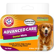 Arm & Hammer Dental Advanced Care Fresh Breath & Whitening Dental Mints Dog Treats, 40-count