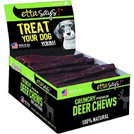 Etta Says! Crunchy Deer Chews Dog Treats, 36 count