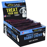 Etta Says! Crunchy Rabbit Chews Dog Treats, 36 count