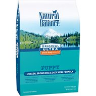 Natural Balance Original Ultra Whole Body Health Puppy Formula Chicken, Brown Rice & Duck Meal Dry Dog Food, 28-lb bag