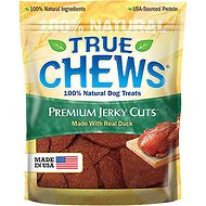 True Chews Premium Jerky Cuts with Real Duck Dog Treats, 12-oz bag
