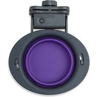 Popware for Pets Collapsible Kennel Pet Bowl, Gray/Purple, Small