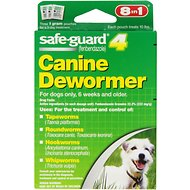 8in1 Safe-Guard 4 Canine De-Wormer for Small Dogs, 3 day treatment