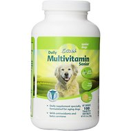 8in1 Excel Senior Multi Vitamin Dog Tabs Supplement, 100 count