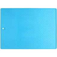 Popware for Pets Pet Bowl Grippmat, Blue, Large