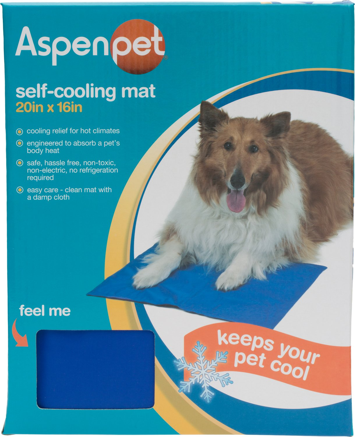 aspen pet strong cooling mat for dogs u0026 cats blue 20 x 16inch chewycom