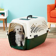 Petmate Ruff Maxx Kennel for Dogs & Cats, Off White/Green, 26-inch