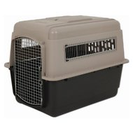 Petmate Ultra Vari Kennel for Dogs & Cats, Taupe/Black, 36-inch