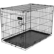 Petmate Ruff Maxx Wire Kennel for Dogs, Black, 48-in