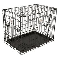 Petmate 2-Door Elite Retreat Wire Kennel for Dogs, Black, 24-inch