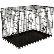 Petmate 2-Door Elite Retreat Wire Kennel for Dogs, Black, 34-inch