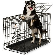 Petmate 2-Door Training Retreat Wire Kennel for Dogs, Black, 19-inch