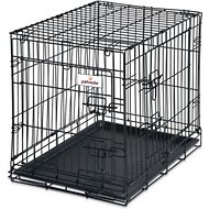 Petmate 2-Door Training Retreat Wire Kennel for Dogs, Black, 24-inch