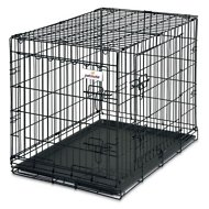Petmate 2-Door Training Retreat Wire Kennel for Dogs, Black, 30-inch