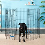 Petmate 8 Panel Wire Exercise Pen with Door Black, Giant