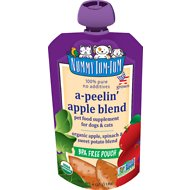 Nummy Tum-Tum Organic A-Peelin' Apple Blend Dog & Cat Food Supplement, 4-oz, case of 12