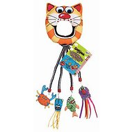 Fat Cat Catfisher Kitty Hoots Doorknob Hanger for Cats, Color Varies