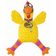 Fat Cat Floppability Barnyard Bullies Dog Toy, Suspicious Chicken