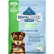 Blue Buffalo Blue Puppy Bones Mini Dental Chews Dog Treats, 12-oz bag
