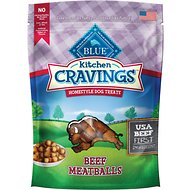 Blue Buffalo Kitchen Cravings Beef Meatballs Dog Treats, 6-oz bag