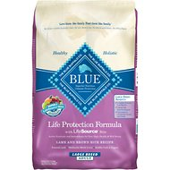 Blue Buffalo Life Protection Formula Large Breed Adult Lamb & Brown Rice Recipe Dry Dog Food, 30-lb bag