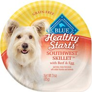 Blue Buffalo Healthy Starts Southwest Skillet with Beef & Egg Grain-Free Wet Dog Food, 3-oz, case of 12