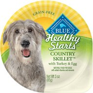 Blue Buffalo Healthy Starts Country Skillet with Turkey & Egg Grain-Free Wet Dog Food, 3-oz, case of 12