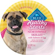 Blue Buffalo Healthy Starts Northwest Skillet with Salmon & Egg Grain-Free Wet Dog Food, 3-oz, case of 12