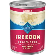 Blue Buffalo Freedom Adult Beef Recipe Grain-Free Canned Dog Food, 12.5-oz, case of 12