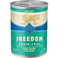 Blue Buffalo Freedom Adult Lamb Recipe Grain-Free Canned Dog Food, 12.5-oz, case of 12