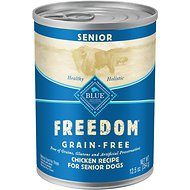 Blue Buffalo Freedom Senior Chicken Recipe Grain-Free Canned Dog Food, 12.5-oz, case of 12