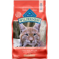 Blue Buffalo Wilderness Indoor Hairball & Weight Control Chicken Recipe Grain-Free Dry Cat Food, 5-lb bag