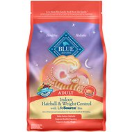Blue Buffalo Indoor Hairball & Weight Control Chicken & Brown Rice Recipe Adult Dry Cat Food, 3-lb bag